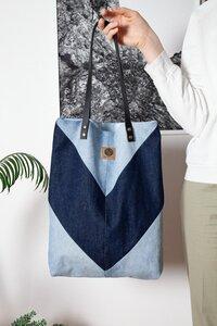 Shopper aus used Denim mit minimalistischem Look blau - Bridge&Tunnel