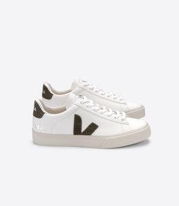 Sneaker Damen - Campo Easy Chromefree Leather - White Kaki - Veja