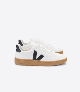 Sneaker Herren - V-12 Leather - Extra White Black Natural Sole - Veja
