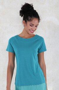 """T-Shirt aus Bambus-Fasern und Bio-Baumwolle """"03211-0005 Zoe solid"""" - Lykka du Nord"""