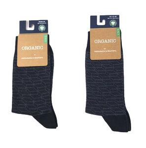 Socken mit Treppenmuster, schwarz - Bulus organic Textilien GmbH