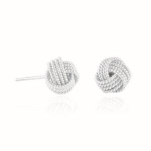 Ohrringe Silber verschlungener Knoten nachhaltig handmade Fair-Trade - pakilia