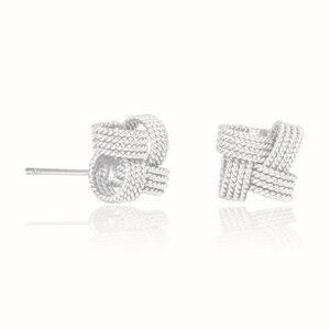Ohrringe Silber Knoten Schleife fein nachhaltig handmade Fair-Trade - pakilia