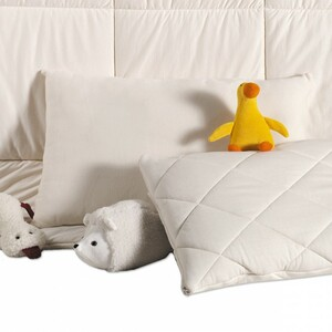 Schurwollkissen MIRA mit Wollvlies-Füllung, passend zur Bettdecke - Prolana