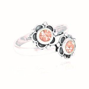 Silber Ring Seerosen Fair-Trade und handmade - pakilia
