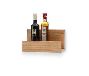 Wand-Küchenregal aus Eiche, 30 cm breit, geeignet für Schneidebretter, als Gewürzregal oder Weinregal - qontur