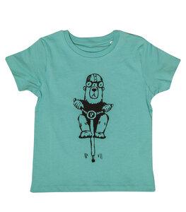 Hubert Pogostick Bär - Fair Wear Bio Kinder T-Shirt - MintBlau - päfjes