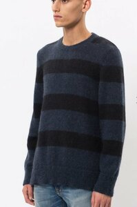 Herrenpullover Hampus block-stripe mit Mohair - Nudie Jeans
