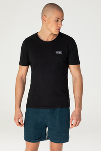 Hanf Roll-Neck Print T-Shirt - Aji - MÁ Hemp Wear