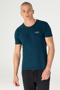 Hanf Roll-Neck Print T-Shirt - Aji - MÁ Hemp Wear