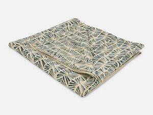 Tischdecke mit Blockdruck // Blau-Grau-Grün - FOLKDAYS