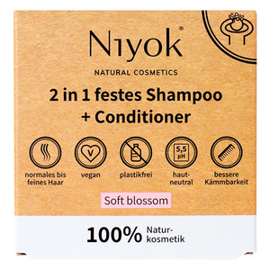 Niyok 2 in 1 festes Shampoo + Conditioner - Niyoks Naturkosmetik