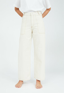 Damenjeans NESSA Cropped Worker undyed - ARMEDANGELS