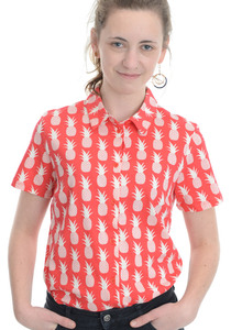 "Bluse ""Peter Jensen Pineapple Shirt"" - People Tree"