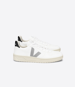 Sneaker Herren Vegan - V-10 CWL - White Oxford-Grey Black - Veja