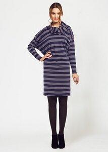 Kayla Stripe Cowl Dress - People Tree