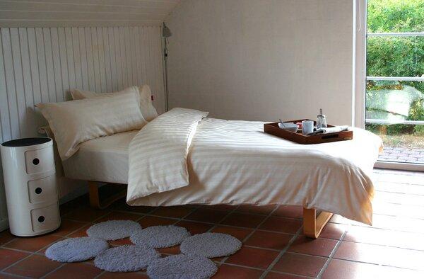ia io bettw sche 2tlg set 155x220 40x80 cm klassische streifen biobaumwoll satin kba. Black Bedroom Furniture Sets. Home Design Ideas