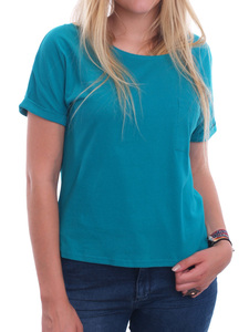 "Damen-Shirt ""Emily Tee Teal"" - People Tree"