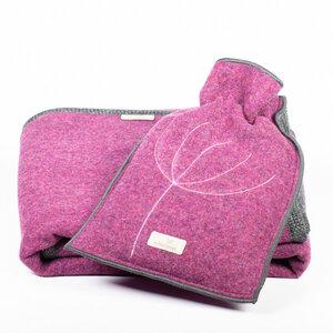 Baby- und Kinder - Wolldecke mit passender Ökowärmflasche im Set aus kuscheliger Merinoschurwolle - nahtur-design