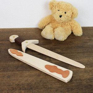 Holzschwert mit Holzhülle hell, Spielzeug - Mitienda Shop