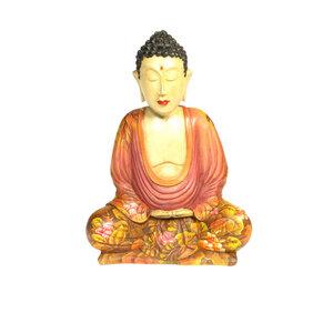 Holzbuddha mit Sarasvati - Just Be