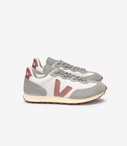 Damen Sneaker RIO BRANCO Hexamesh Gravel Dried-Petal Oxford-Grey - Veja