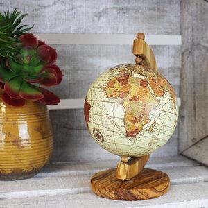 Globus aus Olivenholz 15cm, Mappamondo - Mitienda Shop