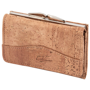 Kork Damen Geldbörse für Damen mit Klippmünzfach und Reißverschluss - Simaru