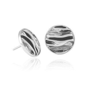 Silber Ohrringe Wellen rund Fair-Trade und handmade - pakilia