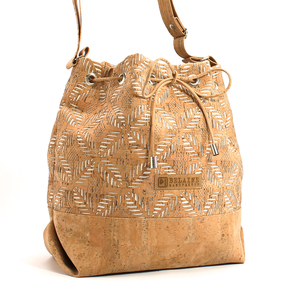 Hellbraune Handtasche aus Korkstoff - Belaine Manufaktur