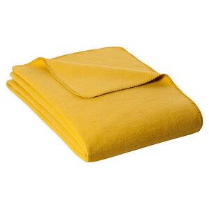 KOLTER Wolldecke Kuscheldecke Decke aus 100 % Bio-Baumwolle Trendfarbe Terrakotta Veilchen Honig - Kolter