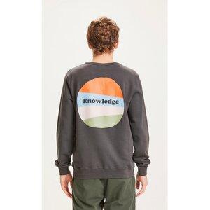 Elm Sweat Pullover mit Logo und Rückenprint - KnowledgeCotton Apparel
