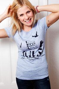 Nelly Nilpferd - Fair Wear Shirt - Cream Heather Blue - päfjes