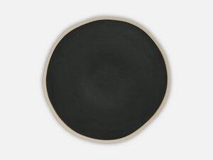 Teller mit weißem Rand in schwarz und grau - FOLKDAYS