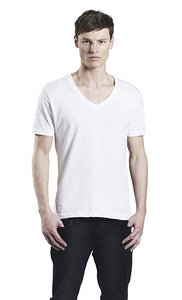 Men's Organic Shirt mit V-Ausschnitt - Continental Clothing