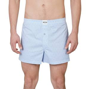 Boxer Short 'Loose Larry' Weiß/Blau Gestreift - VATTER