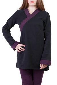 Pullover Jasper schwarz violett  - Ajna