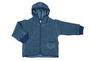 Baby Frottee Kapuzenjacke blau Bio - People Wear Organic
