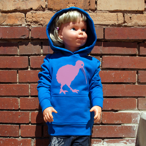 'Kiwi' Kinder-Hoody FAIR WEAR ORGANIC - shop handgedruckt