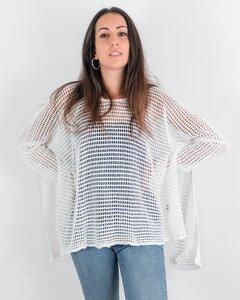 Durchbrochener, gestrickter Pullover ZOE DONA, Bio-Baumwolle - MAGAN