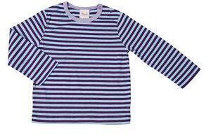 Baby Shirt LA violett/geringelt Bio Baumwolle - People Wear Organic