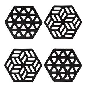 Zeta handgefertigte Untersetzer aus recyceltem Kautschuk - Paguro Upcycle