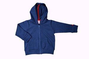 Baby Sweatjacke mit Kapuze blau Bio - People Wear Organic