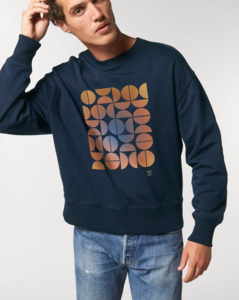 Unisex Oversize Sweatshirt/ Imagination Retro gekörnter Vintagedruck - Kultgut