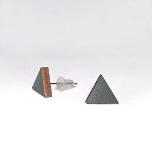 Holz-Ohrstecker Dreieck, viele Farben - Gary Mash