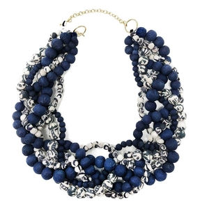 Kantha Indigo Braided Collier - Worldfinds