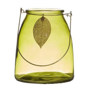 Laterne Leaf gelb, grün 15cm - Mitienda Shop