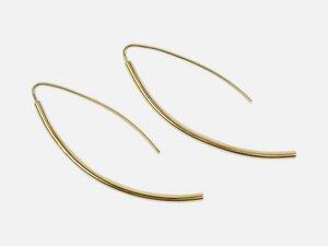 Geschwungene Ohrhänger // Gold - FOLKDAYS