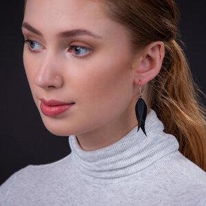 Flake Ohrringe aus recyceltem Reifenschlauch - SAPU