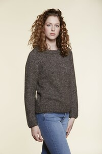 Alpaka Strickpullover - Alpacacotton Raglan Sweater brown - Les Racines Du Ciel